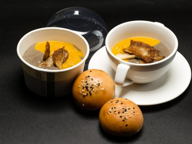 Butternut, Orange & Mushroom soup