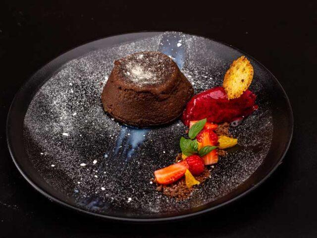 Molten lava dessert